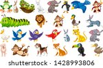 set of cute animal illustration | Shutterstock .eps vector #1428993806