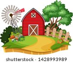 house in countryside background ... | Shutterstock .eps vector #1428993989