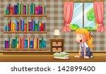 illustration of a girl inside...   Shutterstock .eps vector #142899400