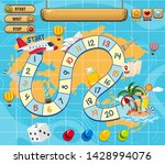 a board game template... | Shutterstock .eps vector #1428994076