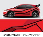 rally car decal graphic wrap... | Shutterstock .eps vector #1428997940