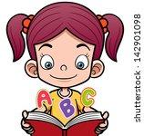 vector illustration of cartoon... | Shutterstock .eps vector #142901098
