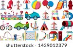 set of playground equipment... | Shutterstock .eps vector #1429012379