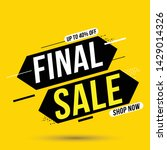 final sale banner  up to 40 ... | Shutterstock .eps vector #1429014326
