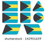 set of buttons with flag of... | Shutterstock .eps vector #142901659