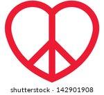 love peace | Shutterstock .eps vector #142901908