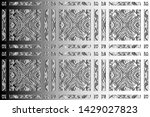 black and white relief convex...   Shutterstock . vector #1429027823