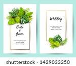 wedding invitation set with... | Shutterstock .eps vector #1429033250