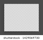 photo frame mockup. chess board ... | Shutterstock .eps vector #1429069730