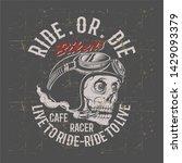 vintage grunge style skull... | Shutterstock .eps vector #1429093379