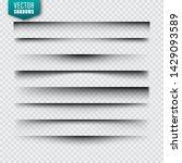 vector shadows set. page... | Shutterstock .eps vector #1429093589