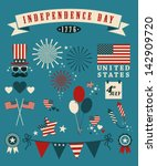 4th of july  independence day... | Shutterstock .eps vector #142909720