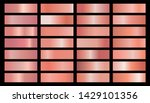 gold  silver  bronze gradients. ... | Shutterstock .eps vector #1429101356