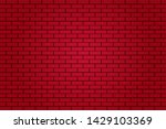 red brick tile wall background...   Shutterstock .eps vector #1429103369