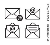 e mail envelope icon logo in...