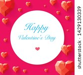 happy valentines day card ... | Shutterstock .eps vector #1429130339