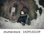 little cute boy is eating a... | Shutterstock . vector #1429132139