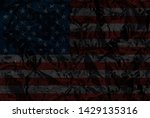 metallic usa flag or your use | Shutterstock . vector #1429135316