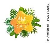 hot summer sale banner  poster  ...   Shutterstock .eps vector #1429142069