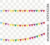 bunting flags for happy... | Shutterstock .eps vector #1429142186