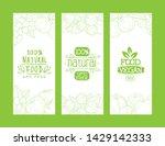 natural organic food  gmo free  ... | Shutterstock .eps vector #1429142333