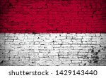effects of indonesia flag  flag ... | Shutterstock . vector #1429143440