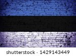 effects of estonia flag  flag... | Shutterstock . vector #1429143449