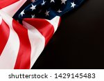 american flag on a black ... | Shutterstock . vector #1429145483