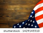 american flag on a old wooden... | Shutterstock . vector #1429145510