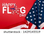 happy american flag day... | Shutterstock . vector #1429145519
