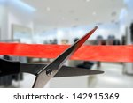 shop grand opening   cutting... | Shutterstock . vector #142915369