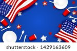 4th of july happy independence... | Shutterstock .eps vector #1429163609