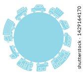 various cars of silhouette... | Shutterstock .eps vector #1429164170