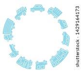 various cars of silhouette... | Shutterstock .eps vector #1429164173