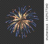 festive fireworks with bright... | Shutterstock .eps vector #1429177340