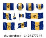 various flags of barbados... | Shutterstock .eps vector #1429177349