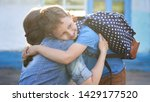 back to school. happy mother...   Shutterstock . vector #1429177520