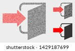 dot and mosaic exit door icons. ... | Shutterstock .eps vector #1429187699