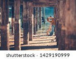 a couple in love at braies lake ... | Shutterstock . vector #1429190999