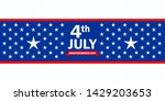 american flag 4th july... | Shutterstock .eps vector #1429203653