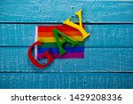 top down image showing gay... | Shutterstock . vector #1429208336