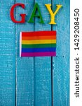 top down image showing gay... | Shutterstock . vector #1429208450