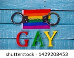 top down image showing gay... | Shutterstock . vector #1429208453