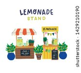 two lemonade stands with... | Shutterstock .eps vector #1429210190