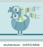 pattern blue knitted outline... | Shutterstock .eps vector #1429215836