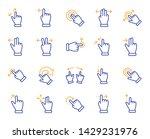 touchscreen gesture line icons. ... | Shutterstock .eps vector #1429231976