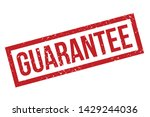 guarantee rubber stamp.... | Shutterstock .eps vector #1429244036