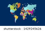 color world map vector modern | Shutterstock .eps vector #1429245626