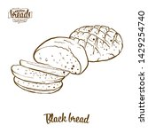 black bread bread vector... | Shutterstock .eps vector #1429254740