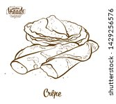cr pe bread vector drawing.... | Shutterstock .eps vector #1429256576